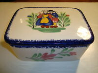 French Faience Box With Its Lid Made By Pornic, Brittany, W-6/ D-4.75/ H-3