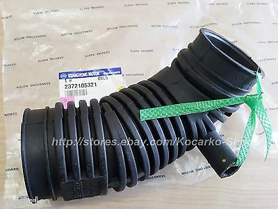 Air Cleaner To Turbocharger Hose Ssanyong Musso (Sports) 662L 2.9TD #2372105321
