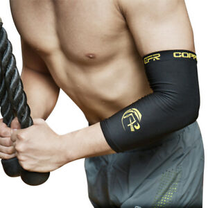 Copper-CFR-Fit-Compression-Elbow-Arm-Sleeve-Support-Brace-Sport-Joint-Pain-Black