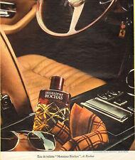 Publicité Advertising 1974  Parfum MONSIEUR ROCHAS eau de toilette de ROCHAS