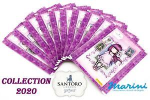SANTORO LONDON GORJUSS FIGURINE PANINI 10 BUSTINE CARDS STICKERS ADESIVE 2020