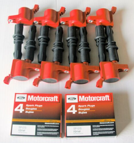 2006 EXPEDITION 5.4L 8+IGNITION COILS HEAVY DUTY RED 8 MOTORCRAFT SP515//sp546