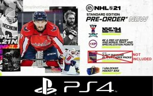 NHL-21-PS4-Pre-Order-DLC-NHL-94-Rewind-XP-Boost-Hockey-Bag-NO-PACKS