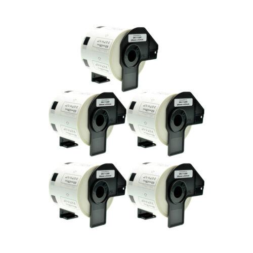 5x Etiketten für Brother P-Touch DK11209 29x62mm