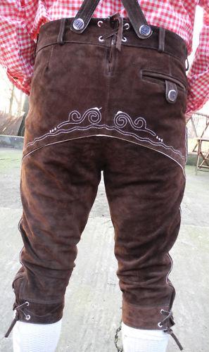 en Pantalon daim brod genou au Pantalon AHd68wPq