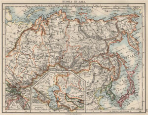 Russia In Asia Shows Trans Siberian Railway Under Construction 1900