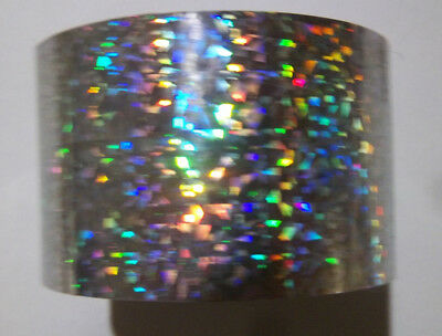 Flashy Holographic Silver Cats Eye Art Foil.   HUGE BLOW OUT SALE