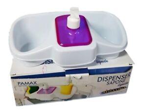 Porta Spugne Da Bagno : Dispenser sapone liquido con scomparti porta spugne bagno plastica
