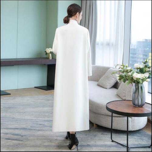 Floral trench mélange S256 broderie longueur de Outwear Manteau de Womens pleine de Vintage de Y5vxqa