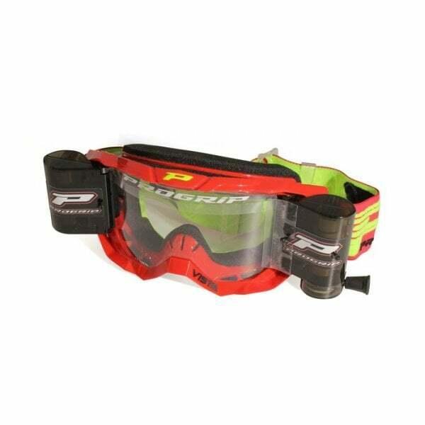 Pro Grip Vista 3303 Roll Off Enduro Motocross MX Bike Goggles - Red  Multi