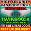 VW cerraduras de alta seguridad Van Trasero Puertas De Granero y Deslizante Kit conjunto de par de carga lateral