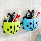 Ladybug Toothbrush Holder Suction Ladybird Toothpaste Wall Sucker Bathroom Nobby