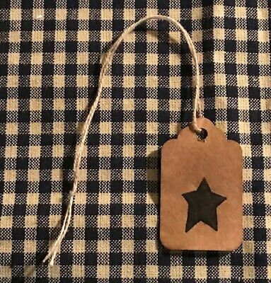 50 LARGE Coffee Stained Primitive Antique Store Price Gift Hang Tags Lot