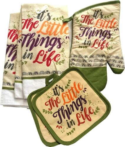 Details about  /Kitchen Towel Set Quality Pot Holders Dish Towel Dish Drying /& More Oven Mitt