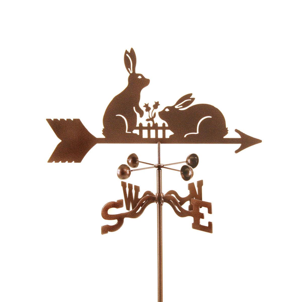 Rabbits, Rabbit Weathervane - Bunnies, Bunney, Bunny Vane w/ Choice of Mount