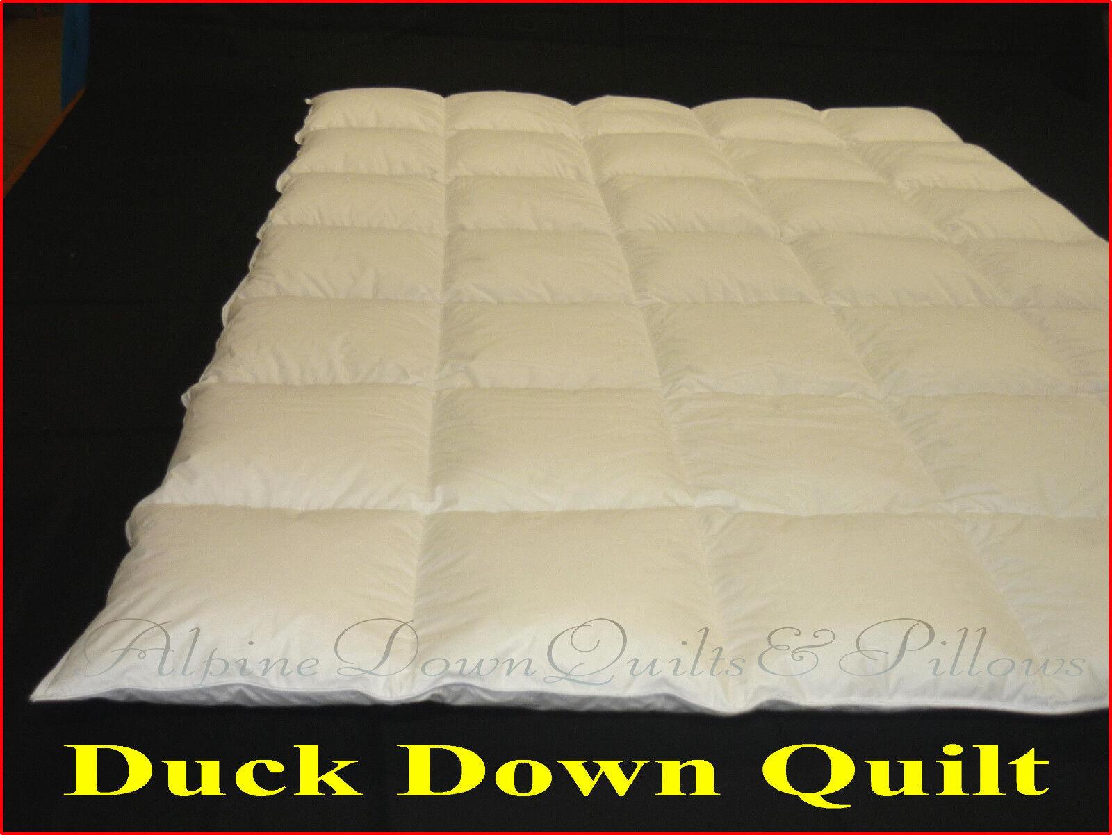 DUCK DOWN AND FEATHER QUEEN BED QUILT DUVET  - SUMMER QUILT- 2 BLANKET