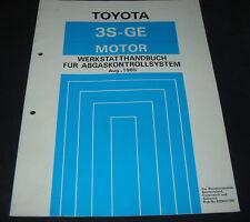 Werkstatthandbuch 3S-GE Motor Toyota Celica ST162 Abgaskontrollsystem 08/1985!