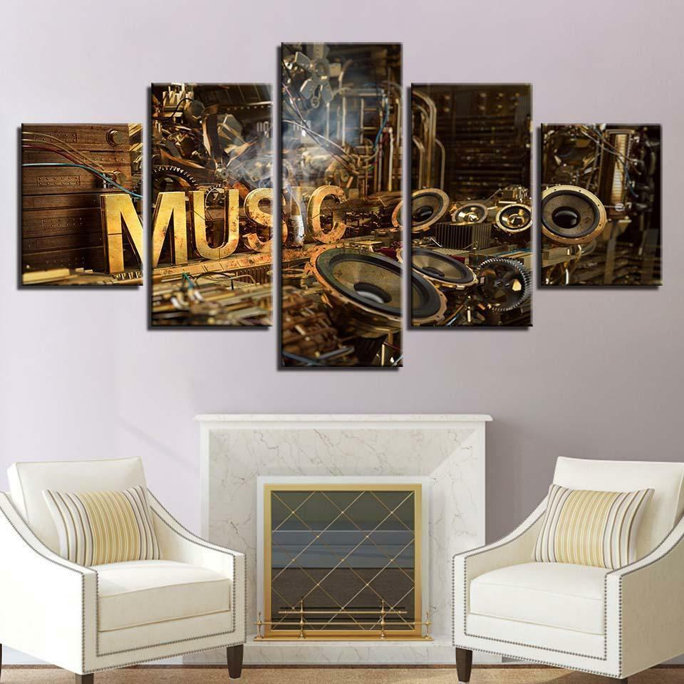Music Lab Instrument Mechanics Poster Canvas Wall Decor Home Decor Canvas Print