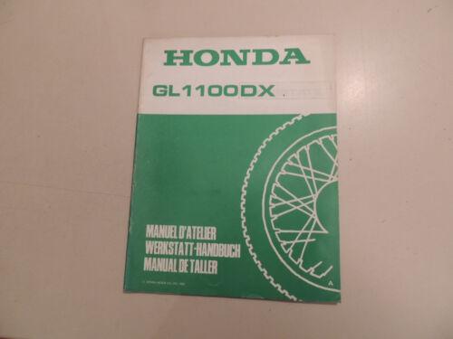 Officina Manuale Honda GL 1100 DX Goldwing Manuel D /'ATELLIER manual de taller
