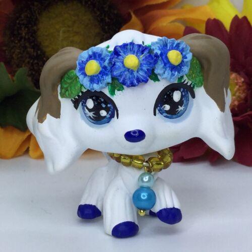 Littlest Pet Shop Cocker Spaniel Dog W//flowers ooak Custom Hand Painted LPS