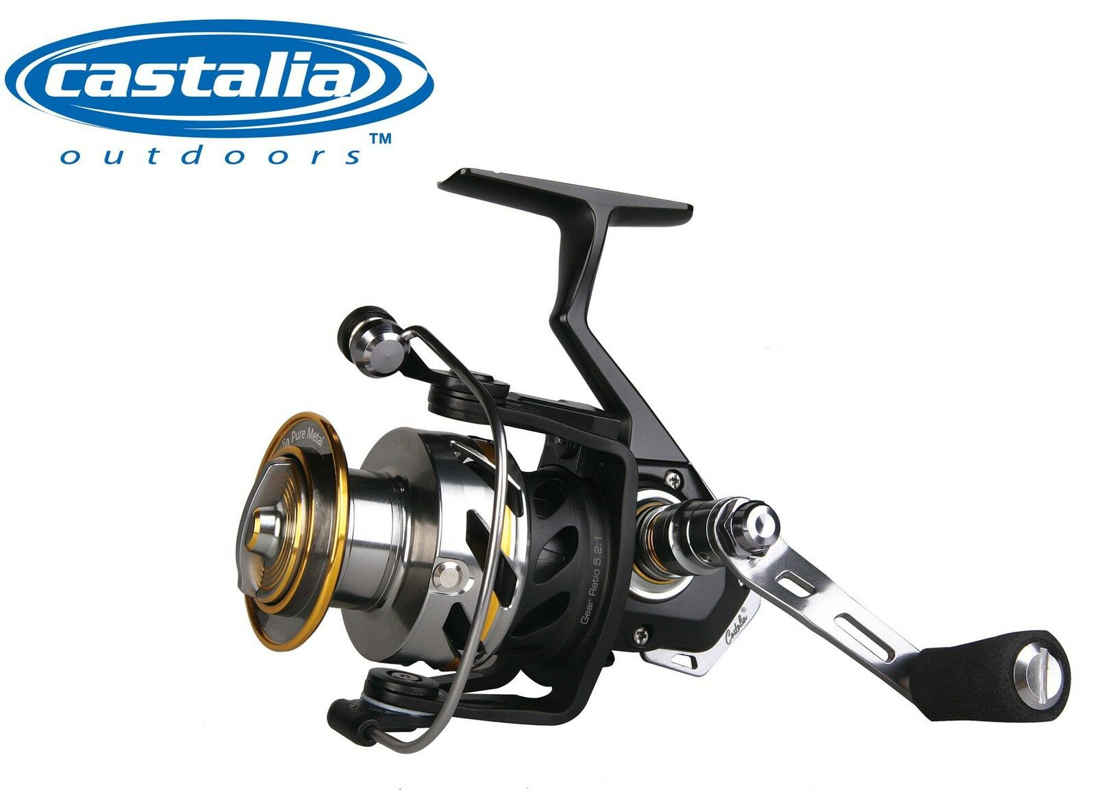 Castalia Pure Metal 4000FD 4000FD 4000FD - Stationärrolle zum Spinnfischen Angelrolle Rolle 245db9