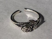 Sterling Silver 925 Toe Ring Rose Adjustable