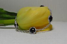 $550 NEW Judith Ripka Sterling Silver & Four Stone Eclipse Bracelet.