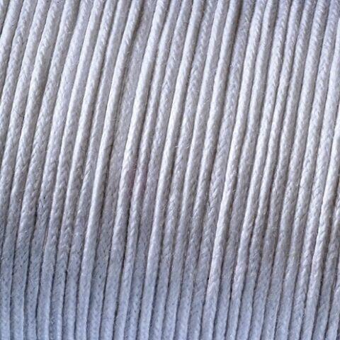 WHITE COTTON WAXED CORD//THONG 1mm x 10 metres