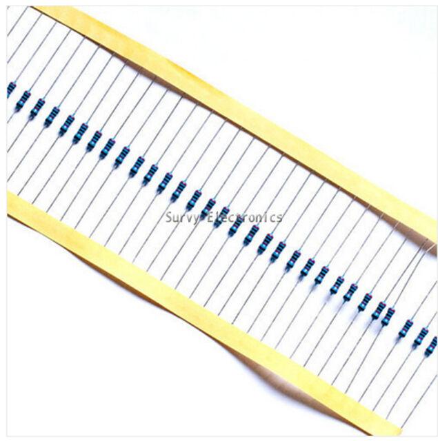 1000pcs 1/4w Watt 100K ohm 100Kohm Metal Film Resistor 0.25W 1000000R 1%