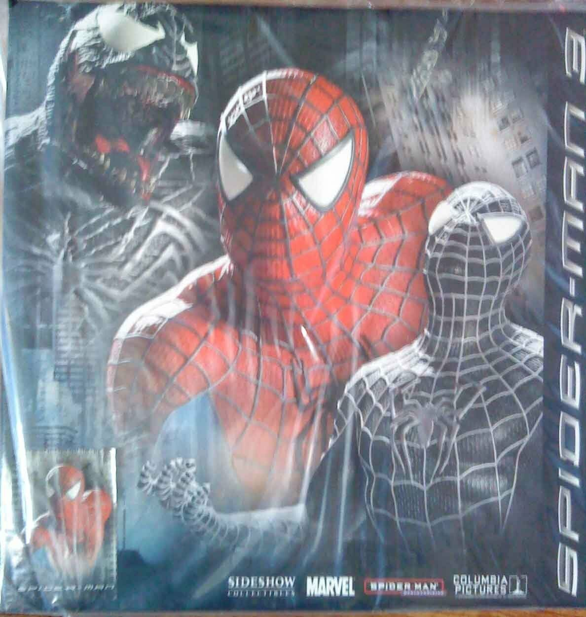 Sideshow collectibles - - - spiderman 3 - spiderman mini bust bnib - limited to 5000 1729d3