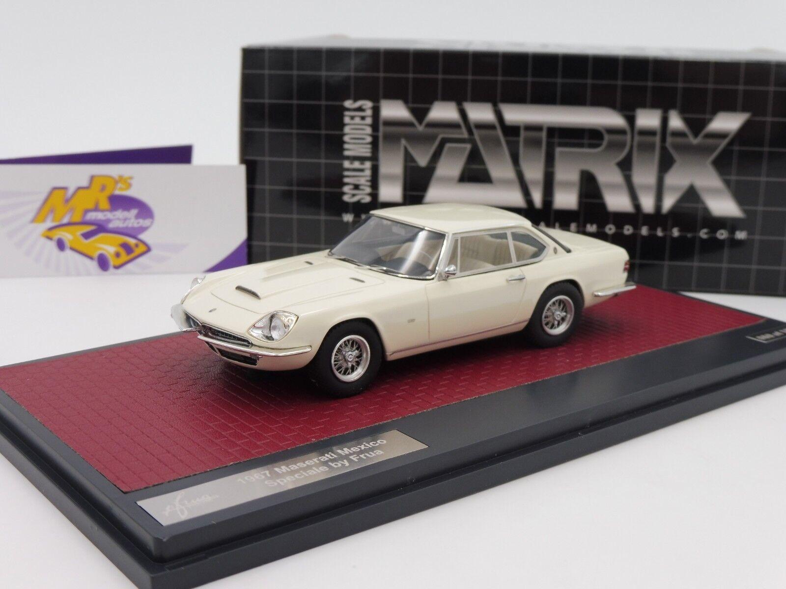 Matrix 51311-042   Maserati Mexico Speciale Frua year 1967  White  1 43 NEW