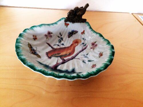 JUGENDSTIL Schale Gebäckschale Schmuckschale mit Bronze-Figur Vögelchen HM5282