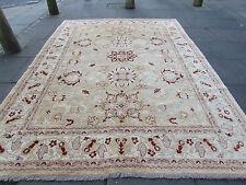 Traditional Hand Made Rugs Afghan Zigler Oriental Wool Brown Carpet 324x243cm