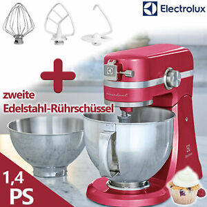 Electrolux Küchenmaschine Knetmaschine Rührmaschine 1000Watt pink Edelstahl