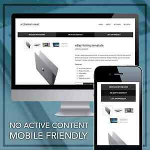 EBay Responsive Listing Template Mobile Friendly Design EBay - Mobile friendly ebay template