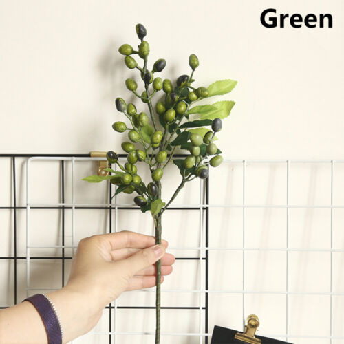 Photography Props Artificial Olive Branch Simulation Berry Fruit Faux Plant