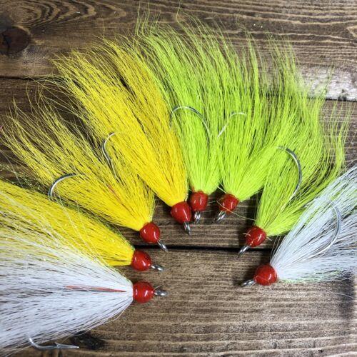 Village Tackle Striper Bass Cod 8//0 Variety Pack Teaser Flies Saltwater Fishing