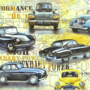 4x Paper Napkins - Cars - for Party, Decoupage Craft
