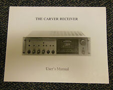 The Carver Receiver Operating Owners Manual Original OEM