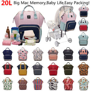 LEQUEEN-Mummy-Backpack-Portable-Maternity-Nappy-Diaper-Bag-Large-Capacity-Travel