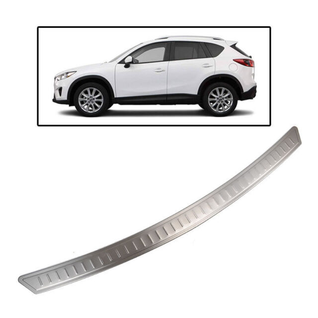 Fit For 12-16 Mazda Cx-5 Rear Bumper Protector Panel Cover Trim Trunk Sill Plate
