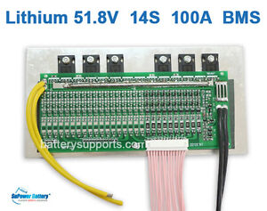 Details about 50 4V 51 8V 60V 14S 100A Lithium ion Li-ion LiPo Polymer  Battery BMS PCB System