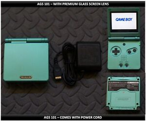 Nintendo Game Boy Advance GBA SP System AGS101 Brighter - Glass Screen - Green