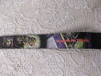 "Perris 2"" Iron Maiden Logo Heat Transfer Design on Polyester  Guitar Strap."
