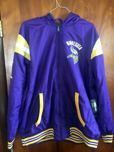 best cheap b9522 c83f5 Details about Minnesota Vikings Licensed NFL Hardball Reversible Hooded  Jacket Coat XXL New