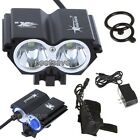SolarStorm 2x Bulb XML U2 LED Bike Bicycle HeadLamp Light +4x 18650 +CH T6 B0193