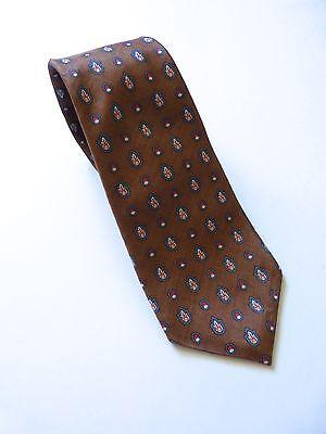 Yves Saint Laurent Silk Brown Tie