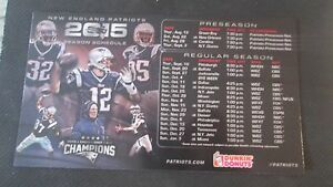 new england patriots 2015 season schedule dunkin donuts magnet 4