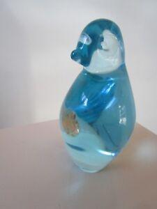 PAPERWEIGHT-CRYSTAL-BLUE-BIRD-4-034-TALL