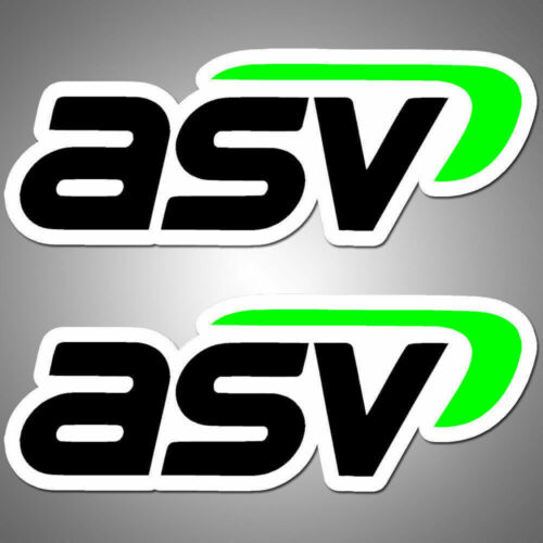 "2x ASV Decal Stickers 3.0/"" x 1.1/"" logo die cut tri colors black green white bg"